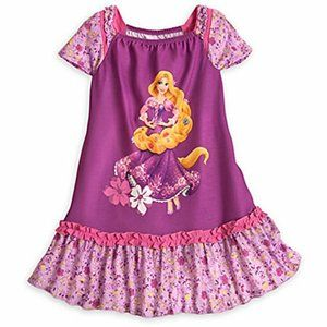 Disney Rapunzel Floral Nightgown with Cap Sleeves